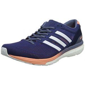 Adidas Adizero Boston 6, Chaussures de Running Femme, Bleu (Noble Indigo/Footwear White/Raw Steel 0), 37 1/3 EU