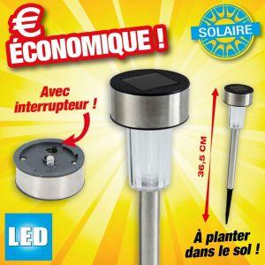 Outiror 24x Lampe solaire LED Éclairage Extérieur Jardin