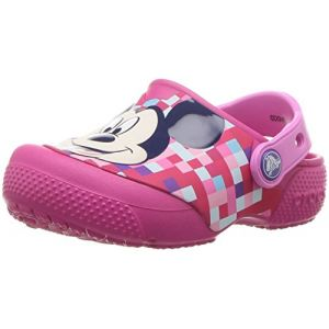 Crocs Fun Lab Mickey Clog, Sabots Mixte Enfant, Rose (Candy Pink) 33/34 EU