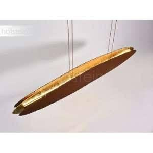 Paul neuhaus Suspension LED LED intégrée NEVIS 2481-48 27 W blanc chaud marron rouille, or brillant
