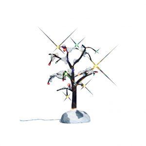 Lemax Arbre enneigé lumineux multicolore 11.5 x 11 x 14 cm
