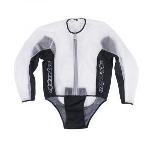 Alpinestars Veste imperméable Racing Rain transparent/noir - 3XL