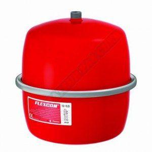 vase d-expansion à membrane fixe. raccordement par le dessus flexcon 2-25 réf. flexcon 12 diamètre : m 3-4 12 l 0.5 bar