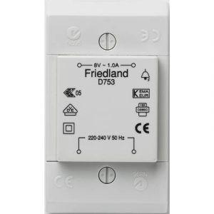 Friedland Transformateur de sonnette D753, 8 V/AC, 1A