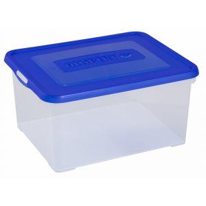 Allibert 17203259V64 Handy Boîte Polyvalente avec Couvercle Plastique Transparent/Bleu 40 x 29 x 25 cm 35 L