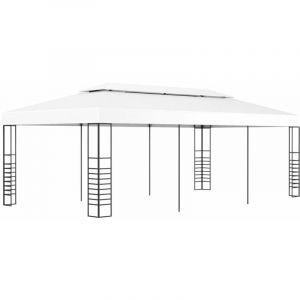 VidaXL Tonnelle de jardin 6 x 3 m Blanc
