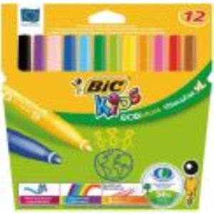 Bic Kids ecolutions - Pochette de 12 feutres Visacolor XL (écolutions)