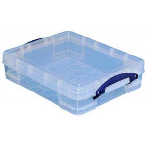 11C - Boîte de rangement en plastique 11 litres, en PP recyclé transparent