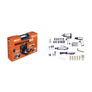 Mecafer RevolutionAir %u2013 Composition de 4 outils + 30 accessoires %u2013 MAXY KIT
