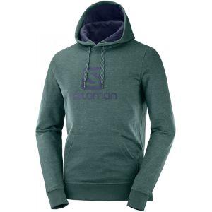Salomon Logo Veste à capuche Homme, green gab XL Sweats & Vestes de sport