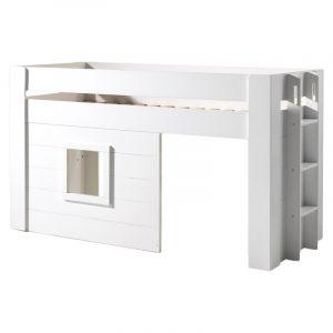 """Vipack Furniture Lit Enfant Cabane & Rideaux """"Noah"""" 90x200cm Blanc"""