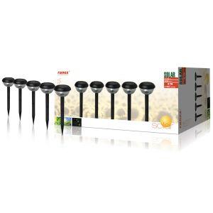 Ranex 5000 - 5 bornes LED solaires avec piquet Lucera