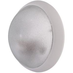 Ebénoid Hublot extérieur fluo 1X9W Ø 300mm blanc verre clair avec lampe 4000K 2G7 et ballast elec CL2 IK04 IP44 OPTION 078825