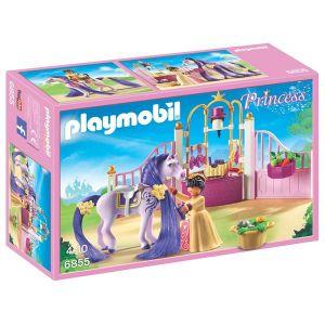 Playmobil 6855 - Ecurie avec cheval à coiffer et princesse