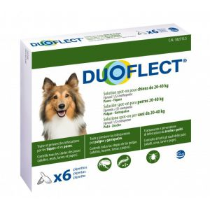 Ceva Duoflect chiens 20-40 kg 6 pipettes