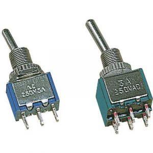 Velleman Interrupteur à levier 1 x On/On SP 166 250 V/AC 2 A permanent 1 pc(s)