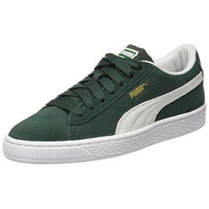 Puma Suede Classic Jr, Sneakers Basses Mixte Enfant, Vert (Pineneedle White), 36 EU