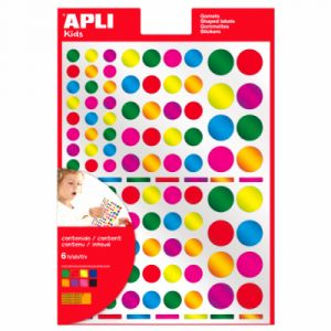 APLI Kids Gommettes rondes métal