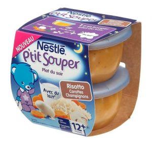 Nestlé P'tit Souper Risotto Carottes Champignons 2 x 200 g - dès 12 mois