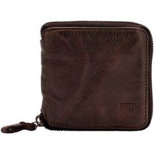 Dudu Portefeuille homme avec fermeture en cuir vintage zip sur 3 côtés avec porte-monnaie et emplacement cartes Cocoa Brown
