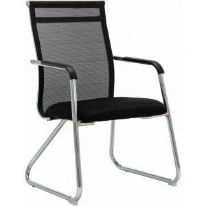 VidaXL Chaise de bureau Noir Tissu en maille