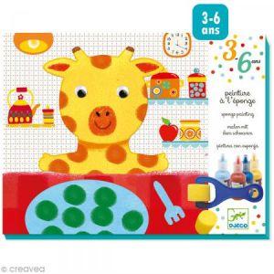 Djeco Peinture à l'éponge : Girafe