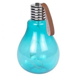 Ampoule a suspendre 11,5x11,5x20cm - Turquoise - Ampoule à suspendre 5 Leds - En acrylique - Dimensions : 11,5x11,5x20cm - Coloris : turquoise.