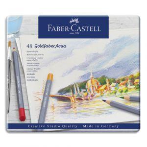 Faber-Castell Crayons de couleur Faber Castel Goldfaber aquarellables - coloris assortis - étui de 48