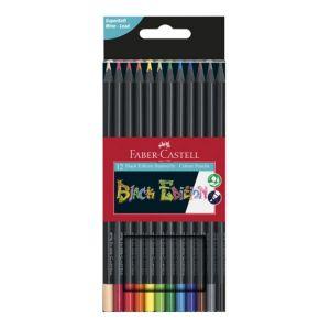 Faber-Castell Crayons de couleurs Black edition 12 pcs