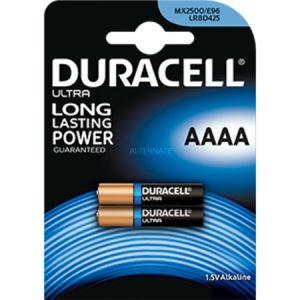 Duracell 2 piles Ultra AAAA alcalines (LR61) 1,5V 600 mAh