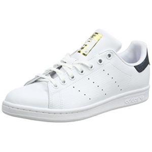 Adidas Stan Smith J, Chaussures de Fitness Mixte Enfant, Blanc (Ftwbla/Ftwbla/Dormet 000), 36 2/3 EU