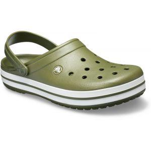 Crocs Crocband - Sandales - blanc/olive 37-38 Sandales Loisir