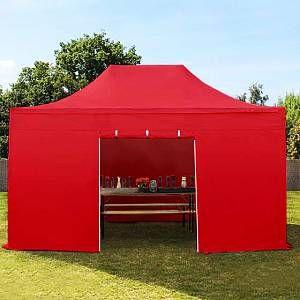 Intent24 Tente pliante 3x4,5 m sans fenêtre rouge PROFESSIONAL tente pliable ALU pavillon barnum.FR