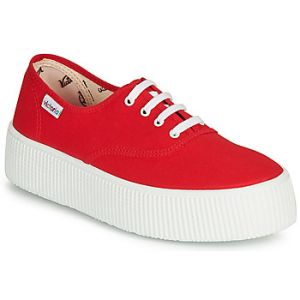 Victoria Baskets basses 1915 DOBLE LONA rouge - Taille 36,37,38,39,40,41,42