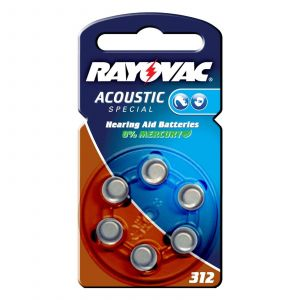 Rayovac 4607945416 - Pile Auditive Acoustic N°312