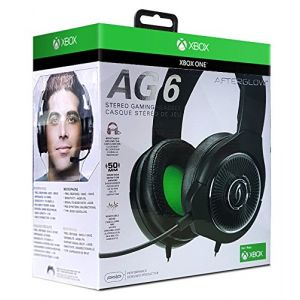 PDP Casque Gaming Afterglow AG 6 Filaire Noir pour Xbox One