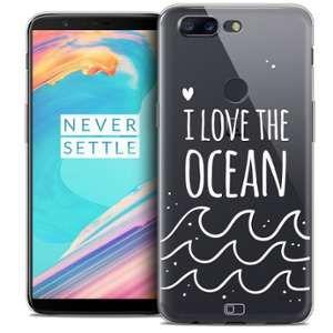 CaseInk Coque OnePlus 5T (6 ) Extra Fine Summer I Love Ocean