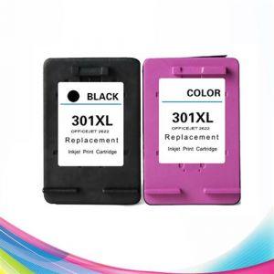 Pack 2 cartouches d'encre N° 301 XL Noir et Couleur pour imprimante HP Officejet 2622