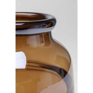 Kare Design Vase en Verre Marron 24cm DALLAS