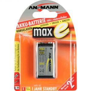 Ansmann maxE lister de 2 piles rechargeables NiMH 8,4V 200mAh format HR9V