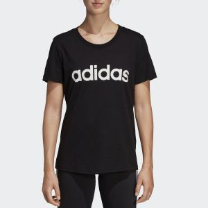 Adidas T-shirt E lin slim t black/wht l Noir - Taille EU S,EU M,EU L