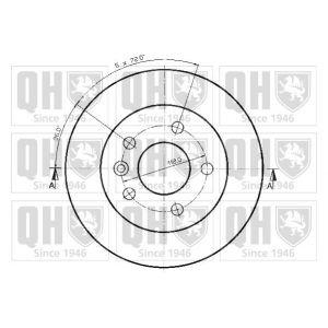 quinton hazell disque de frein unitaire bdc3715 d 39 origine comparer avec. Black Bedroom Furniture Sets. Home Design Ideas