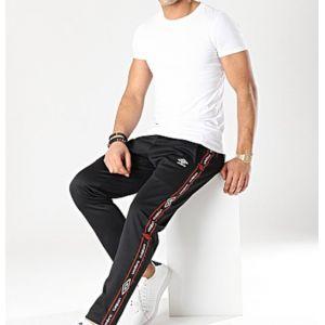 Umbro Pantalon de survêtement Noir Homme Authentic
