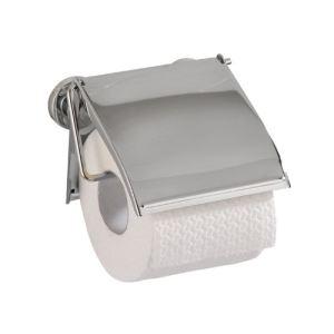 Wenko 17815100 - Distributeur de papier WC avec couvercle Power Loc