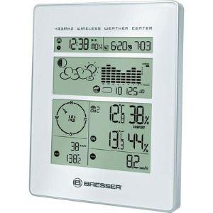 Bresser Weather Center - Station météo avec thermomètre, hygromètre, anémomètre et pluviomètre