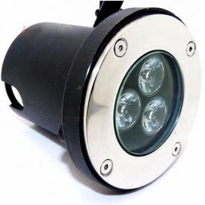 Silamp Spot Extérieur Encastrable Sol LED 3W IP65 80 - couleur eclairage : Blanc Froid 6000K - 8000K