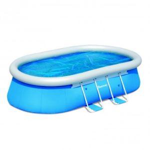 Bestway 58255 - Bâche solaire en PVC 410 x 260 cm pour piscine autoportante ovale 488 x 305 cm