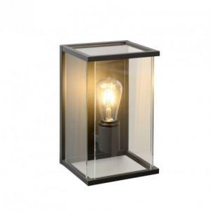 Lucide Applique verre extérieur Claire LED H30 cm - Noir