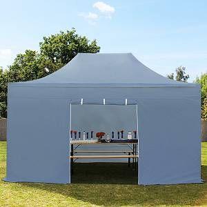Intent24 Tente pliante 3x4,5 sans fenêtre gris fonce PROFESSIONAL tente pliable ALU pavillon barnum.FR
