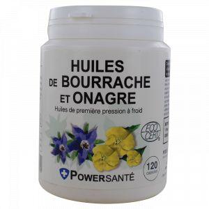 Powersanté Huile de Bourrache et Onagre - 120 capsules